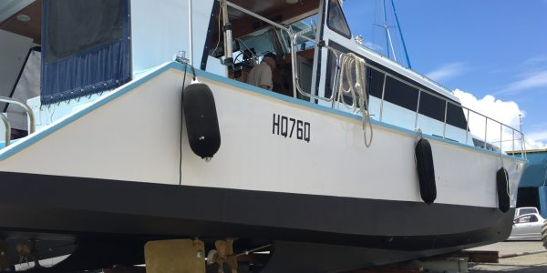 50ft power cat after refit